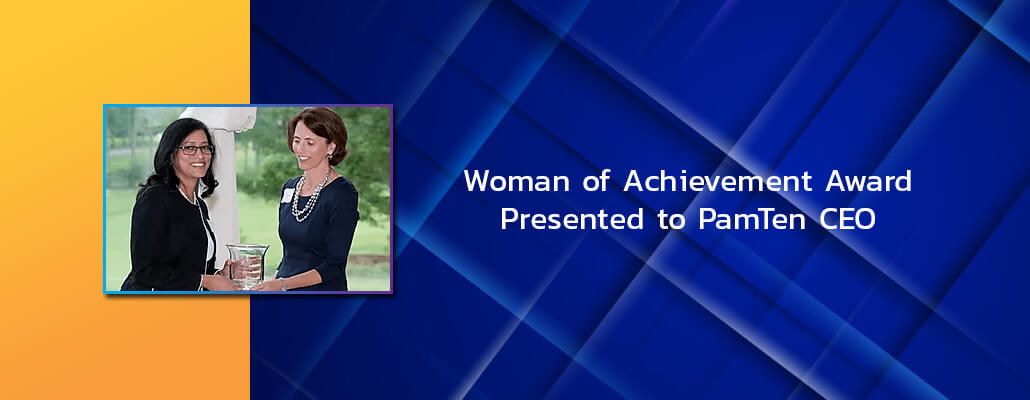 Woman of Achievement Award Presented to PamTen CEO