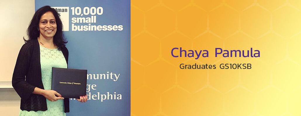 Chaya Pamula Graduates GS10KSB